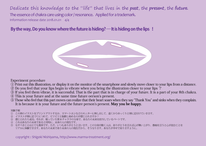 8th chakra, By the way, Do you know where the future is hiding? … It is hiding on the lips!